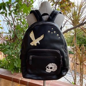 Coach Eagle Skull Men's Leather Backpack